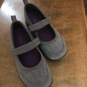 LL Bean comfort Mary Jane style shoes